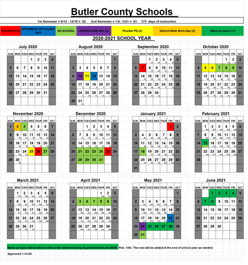 District Calendar 2020 - 2021