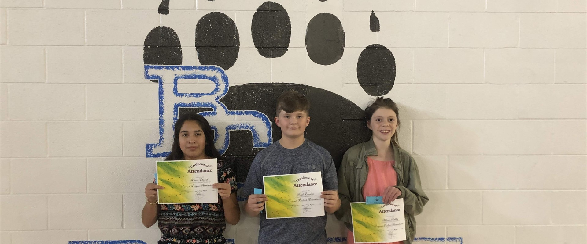 August Perfect Attendance Drawing Winners