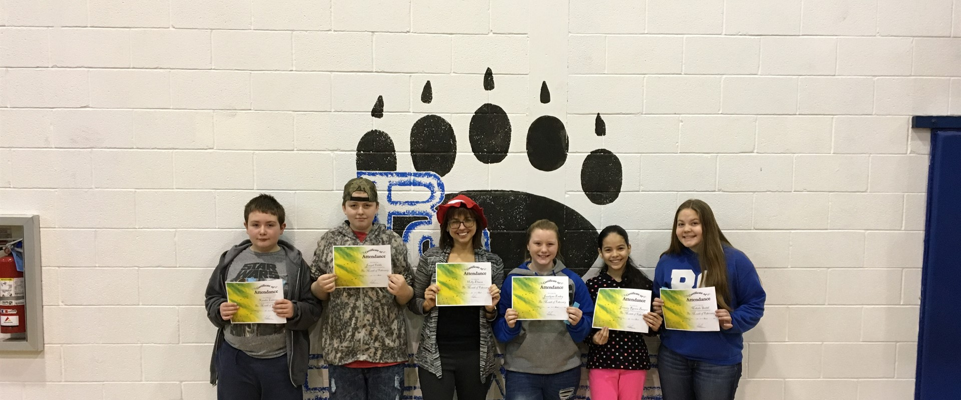 February Perfect Attendance Awards