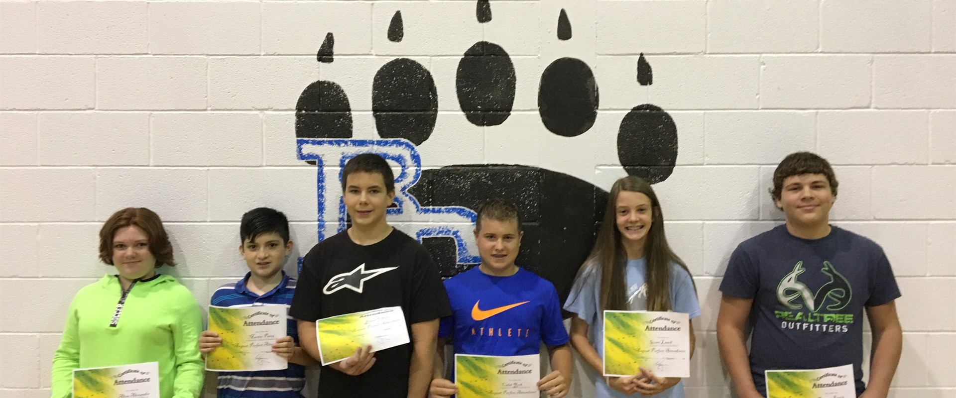 August Perfect Attendance Award drawing recipients