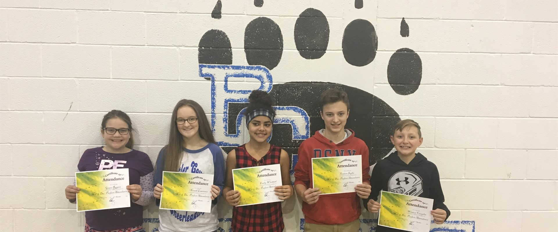 December Perfect Attendance Drawing Winners